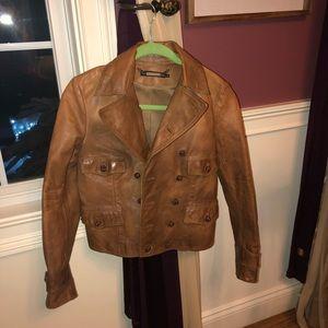 Leather Jacket vintage ralph lauren